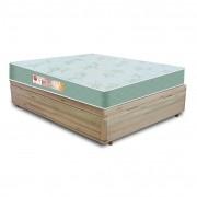 Cama Box Casal Rústica + Colchão De Espuma D33 - Castor - Sleep Max 138x188x55cm