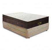 Cama Box Casal Rústica + Colchão De Molas Ensacadas - Ortobom - Gold Personal 138x188x65cm
