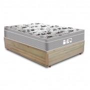 Cama Box Casal Rústica + Colchão De Molas Ensacadas - Probel - Evolution 138x188x59cm