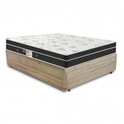 Cama Box Casal Rústica + Colchão De Molas - Ortobom - Physical Nanolastic 138x188x60cm