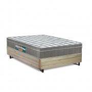 Cama Box Casal Rústica + Colchão Espuma D33 - Lucas Home - Confort D33 138x188x63cm