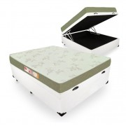 Cama Box Com Baú Casal + Colchão De Espuma D33 - Castor - Sleep Max 138cm