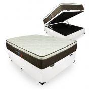 Cama Box Com Baú Casal + Colchão De Molas  - Comfort Prime - Imperador 138cm