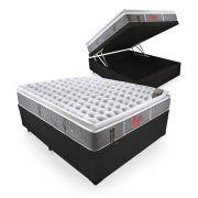 Cama Box Com Baú Casal + Colchão De Molas Ensacadas - Castor - Light Stress Oxygen New One Face 138cm