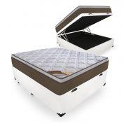Cama Box Com Baú Casal + Colchão de Molas Ensacadas - Castor - Revolution Pocket 69x188x138cm