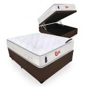 Cama Box Com Baú Casal + Colchão de Molas Ensacadas  - Castor - Vitagel SLX Double Face Pillow Top  78x188x138cm