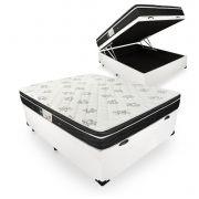 Cama Box Com Baú Casal + Colchão De Molas - Ortobom - Physical Nanolastic 138cm