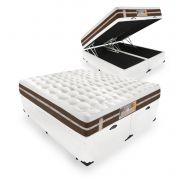 Cama Box Com Baú King + Colchão de Molas Ensacadas - Castor - Silver Star Air Híbrido 74x203x193cm