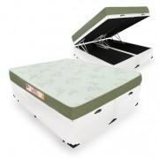 Cama Box Com Baú Queen + Colchão De Espuma D33 - Castor - Sleep Max 158cm