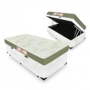 Cama Box Com Baú Solteiro + Colchão De Espuma D33 - Castor - Sleep Max 88cm