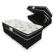 Cama Box Com Baú Solteiro + Colchão De Molas - Ortobom - Physical Nanolastic 88cm