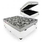 Cama Box Com Baú Viúva + Colchão De Espuma D26 - Ortobom - Physical Ultra Resistente 128cm