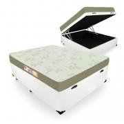 Cama Box Com Baú Viúva + Colchão De Espuma D33 - Castor - Sleep Max 128cm