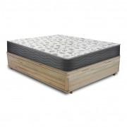 Cama Box com Baú Viúva Rústica + Colchão De Espuma D33 - Ortobom - ISO 100 128x188x60cm