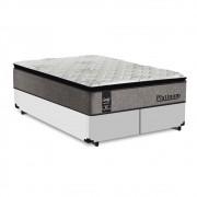 Cama Box King Branca + Colchão de Molas Ensacadas - Sealy - Platinum - 193x203x67cm