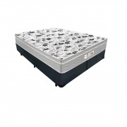 Cama Box Queen Cinza + Colchão De Molas Ensacadas - Probel - Evolution 158x198x67cm