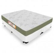 Cama Box Queen + Colchão De Espuma D33 - Castor - Sleep Max 158cm