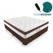 Cama Box Queen + Colchão Massageador c/ Infravermelho - Anjos  - New King 158cm