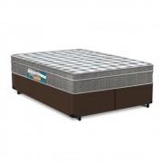 Cama Box Queen Marrom + Colchão Espuma D33 - Lucas Home - Confort D33 158x198x61cm