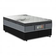 Cama Box Queen Preta + Colchão de Molas Ensacadas - Comfort Prime - New Aspen - 158x198x65cm