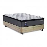 Cama Box Queen Rústica + Colchão de Molas Ensacadas - Sealy - Starck - 158x198x65cm