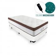 Cama Box Solteiro + Colchão Massageador c/ Infravermelho - Anjos  - New King 88cm