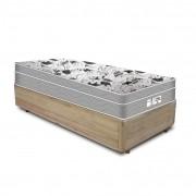 Cama Box Solteiro Rústica + Colchão De Molas Ensacadas - Probel - Evolution 88x188x59cm