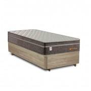 Cama Box Solteiro Rústica + Colchão de Molas Superlastic - Plumatex - Valencia - 88x188x67cm