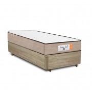 Cama Box Solteiro Rústica + Colchão de Molas Superlastic - Comfort Prime - Coil Crystal - 88x188x55cm