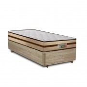 Cama Box Solteiro Rústica + Colchão de Molas Ensacadas - Comfort Prime - Prime Dreams Classic - 88x188x59cm
