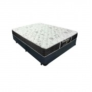 Cama Box Viúva Cinza + Colchão De Molas - Probel - Prodormir Sleep Black 128x188x57cm