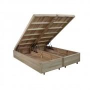 Somiê Cama Box com Baú Queen - Lucas Home - Rústica 158x198x42cm