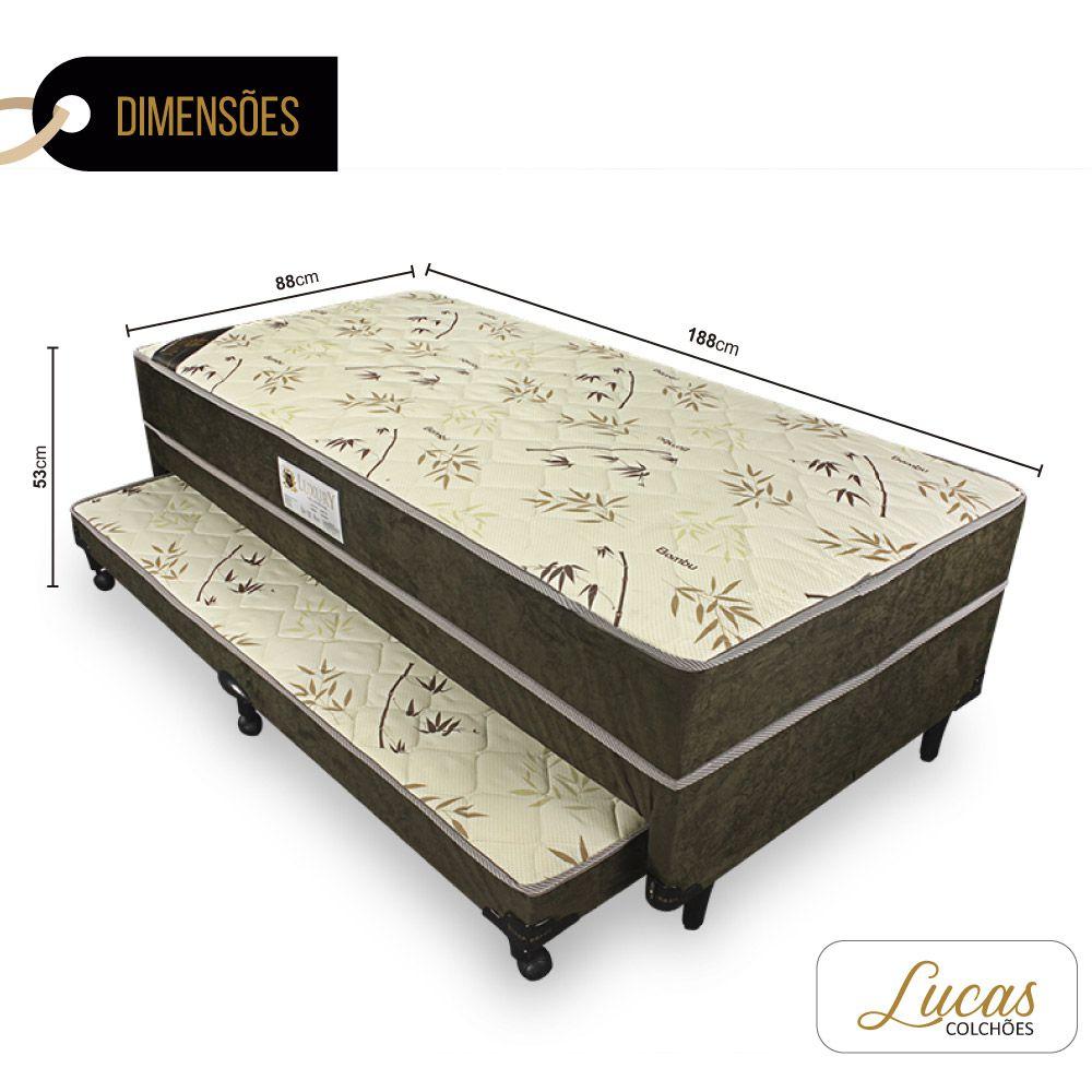 Bicama Solteiro de Molas - Lucas Colchões - 88cm