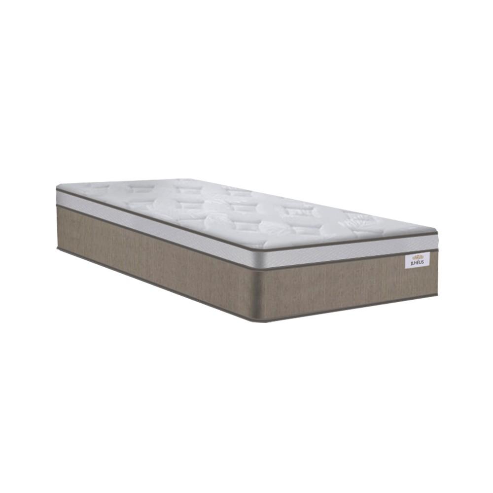 Cama Box Baú Solteiro Branca + Colchão de Molas Ensacadas - Plumatex - Ilhéus - 88x188x68cm