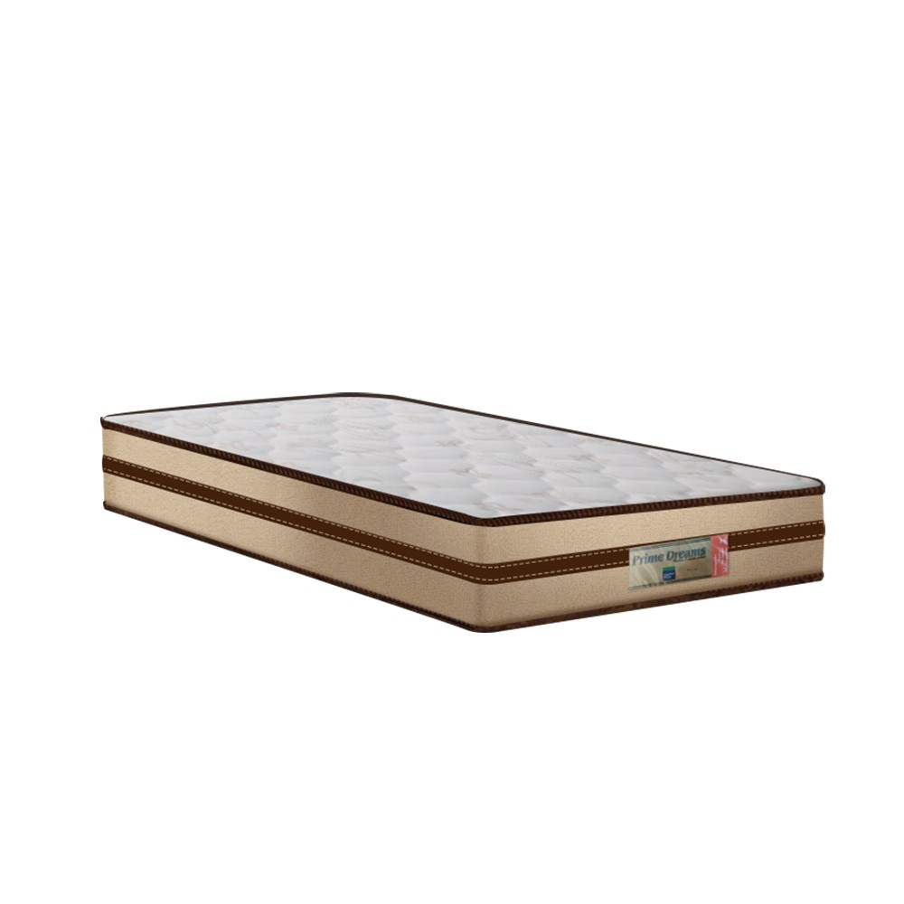 Cama Box Baú Solteiro Preta + Colchão de Molas Ensacadas - Comfort Prime - Prime Dreams Classic - 88x188x64cm