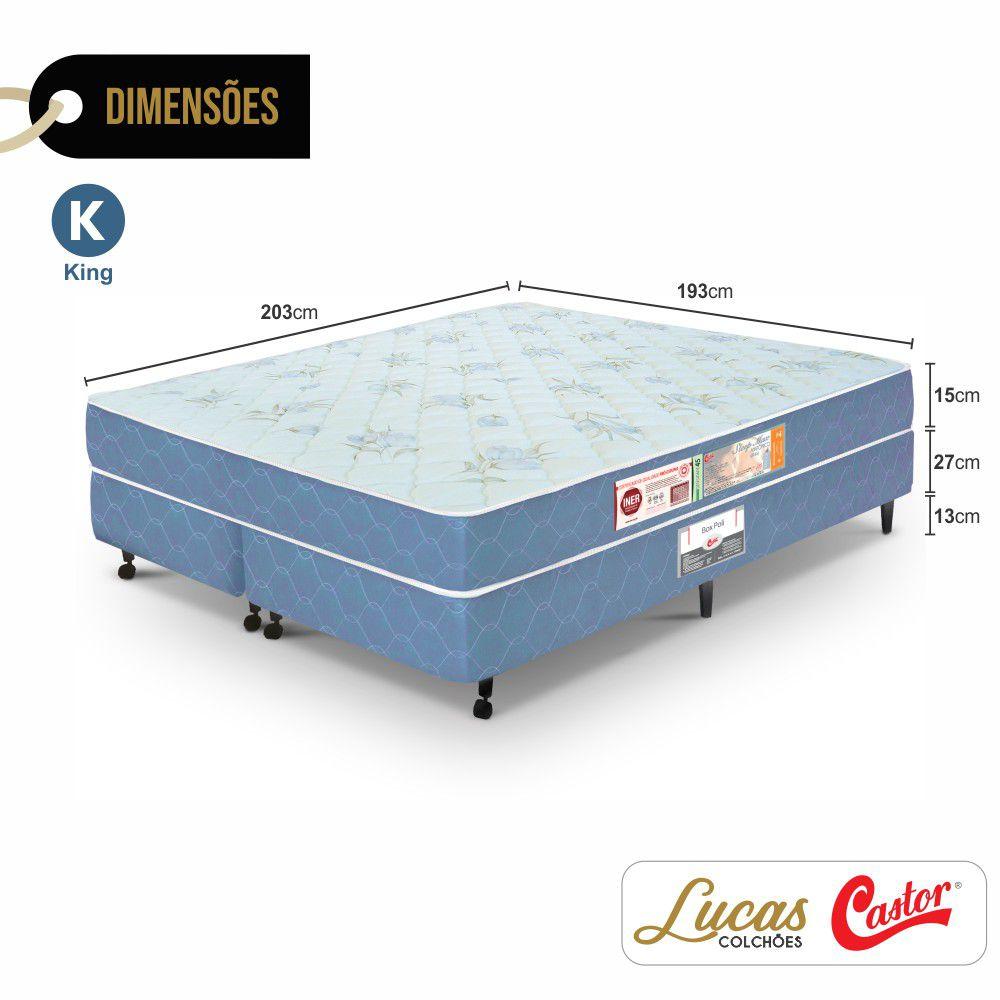 Cama Box King + Colchão De Espuma D45 - Castor - Sleep Max 55x193x203cm