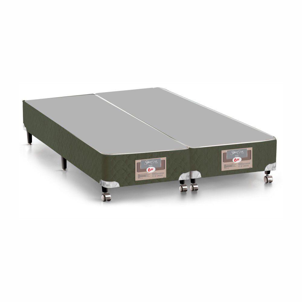 Cama Box King + Colchão De Molas - Castor - Silver Star Air 193cm