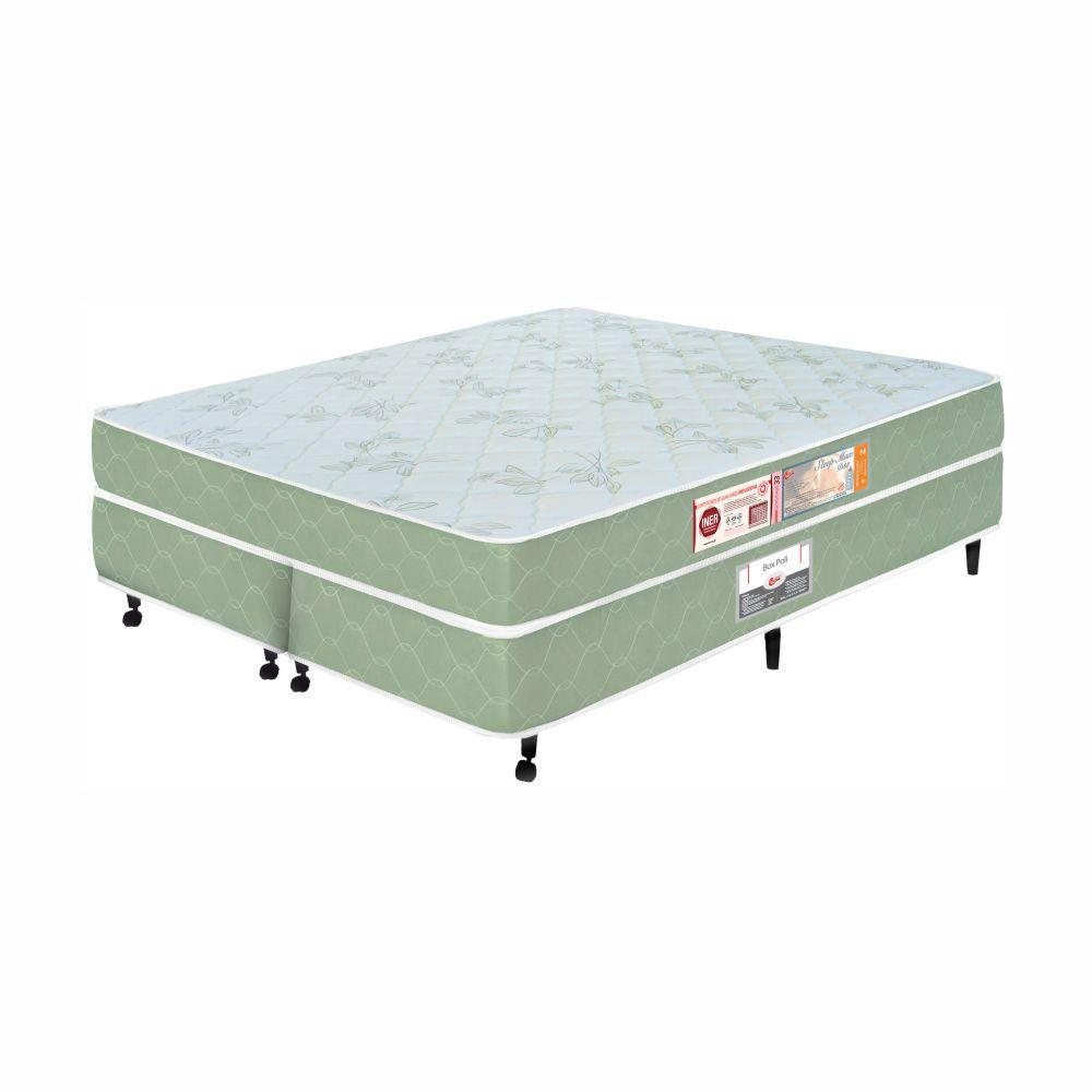 Cama Box Queen + Colchão De Espuma D33 - Castor - Sleep Max 55x158x198cm