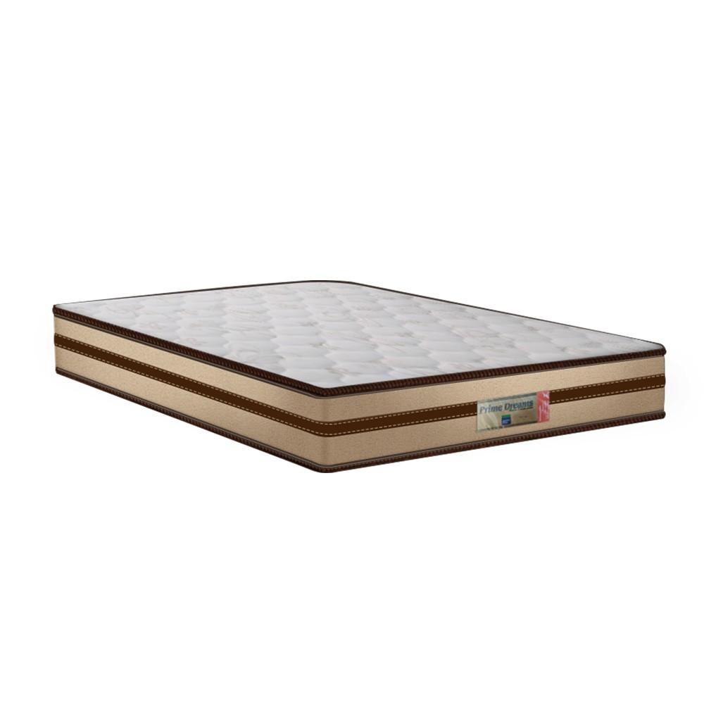 Cama Box Casal Branca + Colchão de Molas Ensacadas - Comfort Prime - Prime Dreams Classic - 138x188x57cm