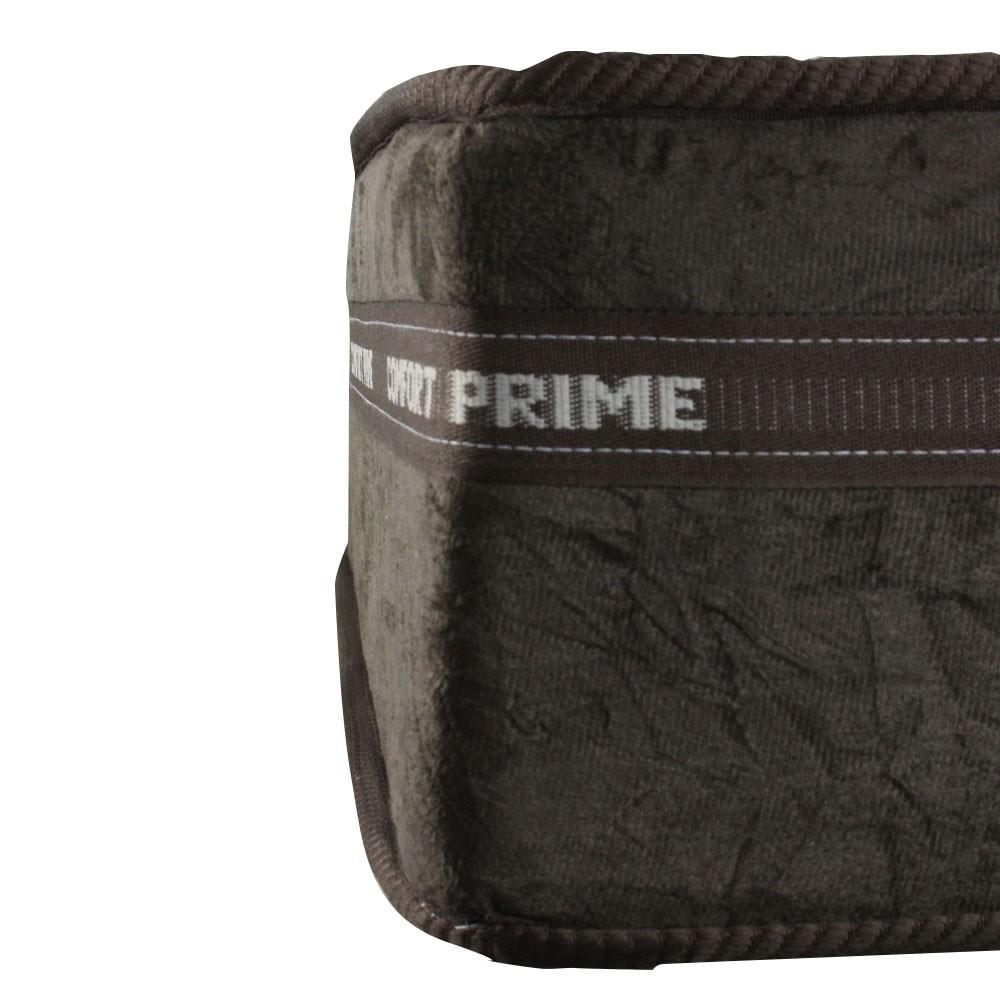 Cama Box Casal Cinza + Colchão de Molas Superlastic - Comfort Prime - Coil Classic - 138x188x57cm