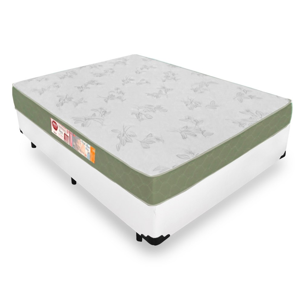 Cama Box Casal + Colchão De Espuma D33 - Castor - Sleep Max 138cm