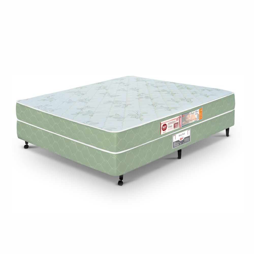 Cama Box Casal + Colchão De Espuma D33 - Castor - Sleep Max 58x138x188cm