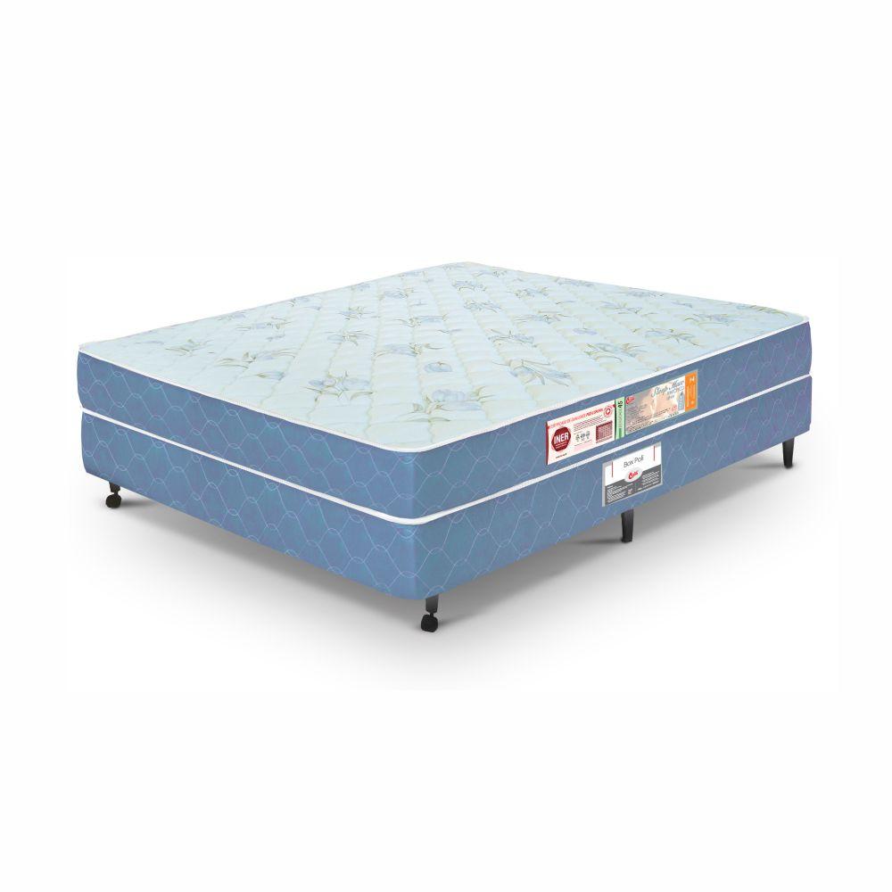 Cama Box Casal + Colchão De Espuma D45 - Castor - Sleep Max 55x138x188cm