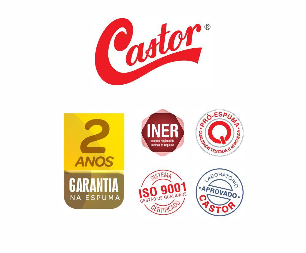 Cama Box Casal + Colchão De Espuma D45 - Castor - Sleep Max 58x138x188cm