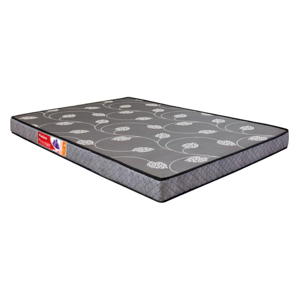 Cama Box Casal Compacto (128cm) Cinza + Colchão De Espuma D20 - Prorelax - Violeta com Travesseiros