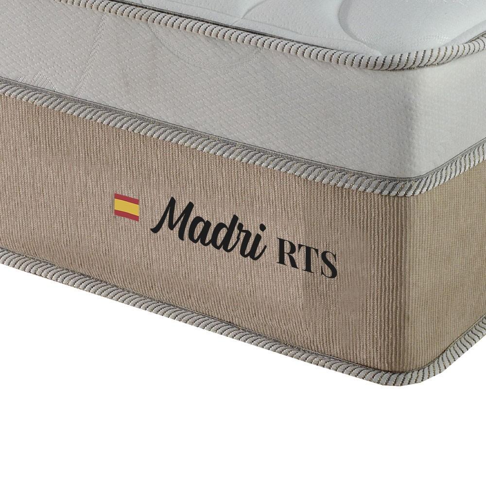 Cama Box Casal Marrom + Colchão de Molas Ensacadas - Plumatex - Madri - 138x188x67cm