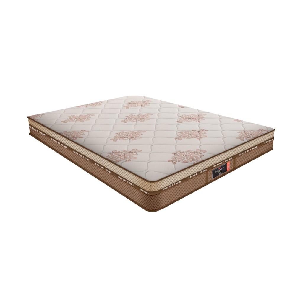 Cama Box Casal Rústica + Colchão De Molas - Comfort Prime - New Imperador 138x188x70cm
