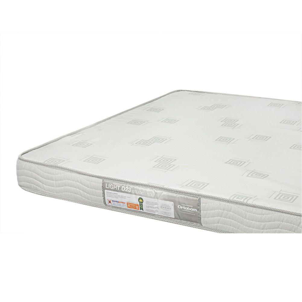 Cama Box Com Baú Casal + Colchão De Espuma D23 - Ortobom - Light 138cm
