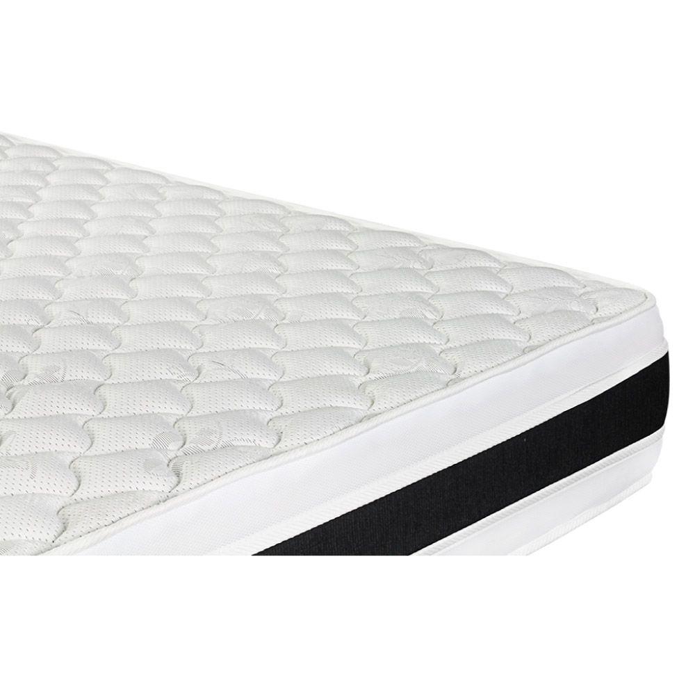 Cama Box Com Baú Casal + Colchão De Espuma D45 - Castor - Black White Double Face 138cm