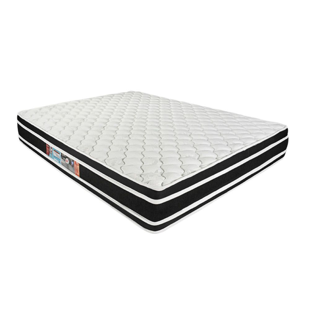 Cama Box Com Baú Queen + Colchão De Espuma D33 - Castor - Black White Double Face 158cm